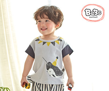 "<font color=""ffffff"">[Family Short Sleeve Tee & Family Look] <br></font> Whale hit T 19S139 / Kids wear, kids clothes, kids look"