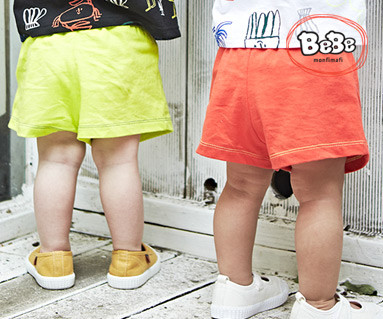 "<font color=""ffffff"">[Family Short-sleeved Tea & Family Look] <br></font> Neon Shorts 19B11 / Kids wear, children's clothes, kids look"