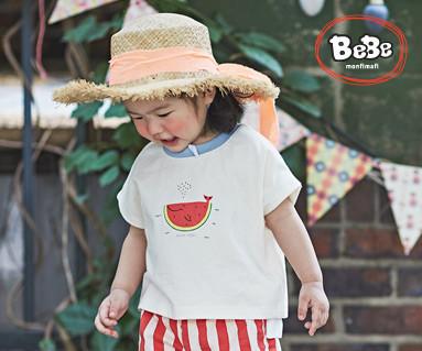 """<font color=""""ffffff"""">[Family Short Sleeve Tee & Family Look] <br></font> Watermelon Whale Tee 19B15 / Kidswear, Children's Wear, Kids Look"""
