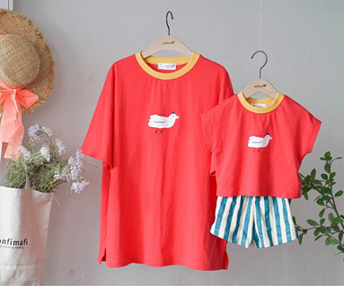 "<font color=""ffffff"">[Family Short Sleeve Tee & family look] <br></font> family Fly Bird Tee 19B16 / Children's clothing, Kids clothes, Kids look"