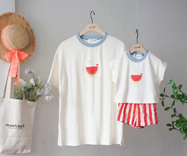 """<font color=""""ffffff"""">[Family Short Sleeve Tee & family Look] <br></font> family Watermelon whale Tee 19B15 / Kids wear, kids clothes, kids look"""