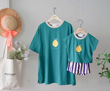 "<font color=""ffffff"">[Family Short Sleeve Tee & family look] <br></font> family lemon tea Tee 19B14 / Children's clothing, kids clothes, kids' look"