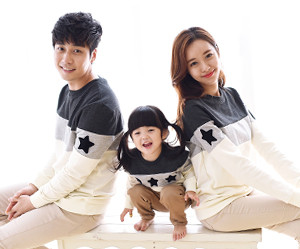 Coco Star Black Man to man family long sleeve_15D02