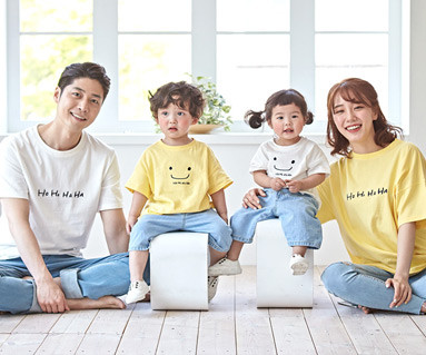 "<font color=""ffffff"">[Family short T-shirts T & family look] <br></font> family Hoho haha short T-shirts 19B06 / family Look, family tea"
