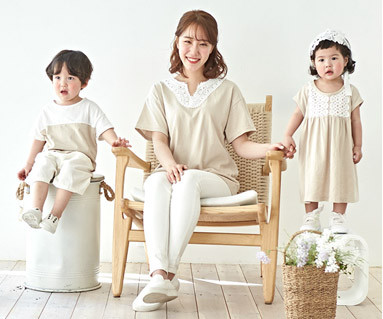 "<font color=""ffffff"">[Family short T-shirts Tees & Family Looks] <br></font> Shine Mother and Baby short T-shirts_19B05"