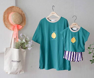 "<font color=""ffffff"">[Family short T-shirtsTee & Family Look] <br></font> I'm Lemon Tee Mother and Baby short T-shirts_19B14"