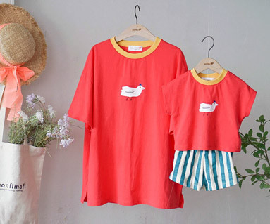 "<font color=""ffffff"">[Family short T-shirtsTee & Family Look] <br></font> Fly Birds Tee Mom and Baby short T-shirts_19B16"