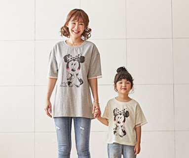 "<font color=""ffffff"">[Family short T-shirts Tees & Family Looks] <br></font> Petit Mickey and Mom short T-shirts_18B22"