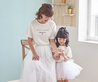"""<font color=""""ffffff"""">[Family short T-shirts Tees & Family Looks] <br></font> Monty Magic mother and baby short T-shirts_18B21 <font color=""""#FF6666""""><strong>[Order available]</strong></font>"""