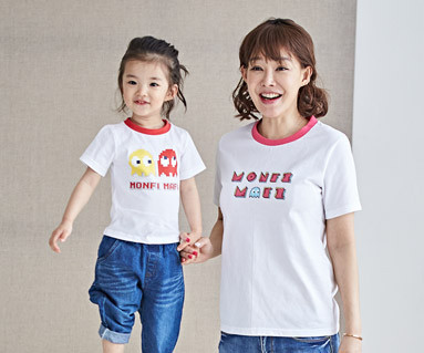 """<font color=""""ffffff"""">[Family short T-shirts Tees & Family Looks] <br></font> Montygame mother and baby short T-shirts_18B19 <font color=""""#FF6666""""><strong>[Order available]</strong></font>"""