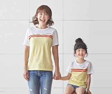 """<font color=""""ffffff"""">[Family short T-shirts Tees & Family Looks] <br></font> Candy Mom and Baby short T-shirts_18B24<font color=""""#FF6666""""><strong>[Order available]</strong></font>"""