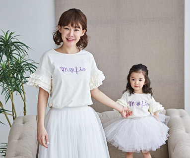 "<font color=""ffffff"">[Family short T-shirts Tees & Family Looks] <br></font> Lollipoli mother and baby short T-shirts_18B17"