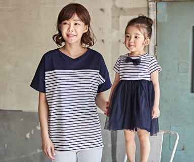 """<font color=""""ffffff"""">[Family short T-shirts Tees & Family Looks] <br></font> Chloe Mom and Baby short T-shirts_18B12"""