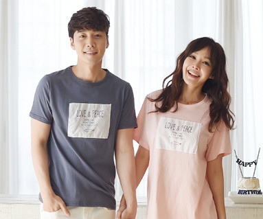 """Fish Round Couples short T-shirts_16B02 <font color=""""#FF6666""""><strong>[Order available]</strong></font>"""