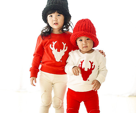 "Brushed Deer Man to man baby long sleeve_15D05 <font color=""#FF6666""><strong>[Order available]</strong></font>"