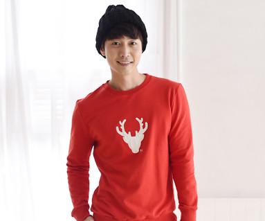 "Brushed Deer Man to man men long sleeve_15D05 <font color=""#FF6666""><strong>[Order available]</strong></font>"
