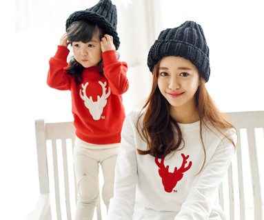 "Brushed Deer Man to man mom and baby long sleeve_15D05 <font color=""#FF6666""><strong>[Order available]</strong></font>"