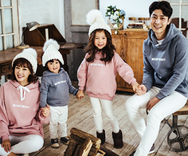 """Brushed Monty Mappy hood family long sleeve_16D10 <font color=""""#FF6666""""><strong>[Order available]</strong></font>"""