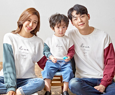 "<font color=""ffffff"">[Family long sleeve tee & family look] <br></font> family color Love Man to man long sleeve 19C02 <font color=""red""><b> </b></font>"