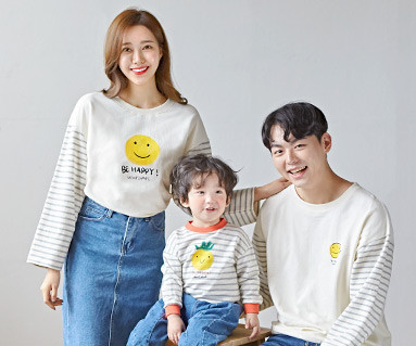 "<font color=""ffffff"">[Family long sleeve tee & family look] <br></font> family non happy Man to man long sleeve 19C03 <font color=""red""><b> </b></font>"