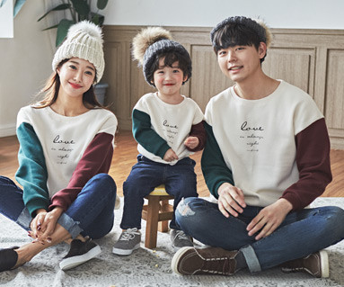 "<font color=""ffffff"">[Family long sleeve tee & family look] <br></font> family Brushed Color Love Man to man long sleeve 19D07 <font color=""red""><b> </b></font>"