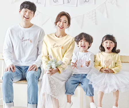 """<font color=""""ffffff"""">[Family long sleeve tee & family look] <br></font> family Thistle candy round long sleeve 20A02 / family look, family photo costume <font color=""""red""""><b> </b></font>"""