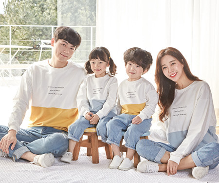 "<font color=""ffffff"">[Family long sleeve tee & family look] <br></font> family Sometime color man to man long sleeve 20A01 / family look, family photo costume <font color=""red""><b> </b></font>"
