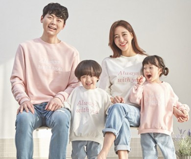 "<font color=""ffffff"">[Family long sleeve tee & family look] <br></font> family always Man to man long sleeve 20A03 / family look, family photo costume <font color=""red""><b> </b></font>"