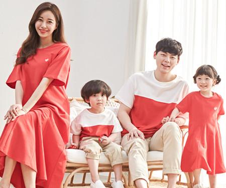 "<font color=""ffffff"">[Family long sleeve tee & family look] <br></font> family red banana short T-shirts 20B04 / family look, family photo costume <font color=""red""><b> </b></font>"