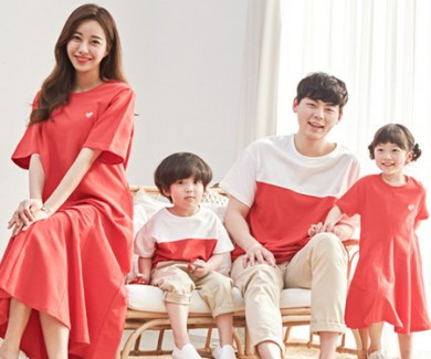 "<font color=""ffffff"">[Family long sleeve tee & family look] <br></font> family red banana short T-shirts 20B04 / family look, family photo costume <font color=""red""><b> </b></font>"