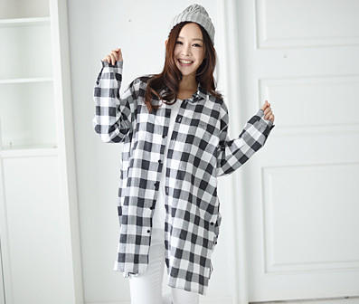 """Modern Check Family Women long sleeve_16A05 <font color=""""#FF6666""""><strong>[Order available]</strong></font>"""