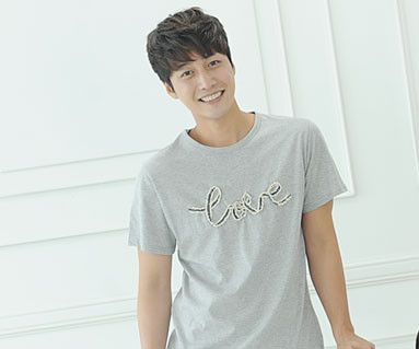 """Denim rope round men's short T-shirts_14B31 <font color=""""#FF6666""""><strong>[Order available]</strong></font>"""