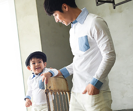 """Windy family dad and baby long sleeve_15A06<font color=""""#FF6666""""><strong>[Order available]</strong></font>"""