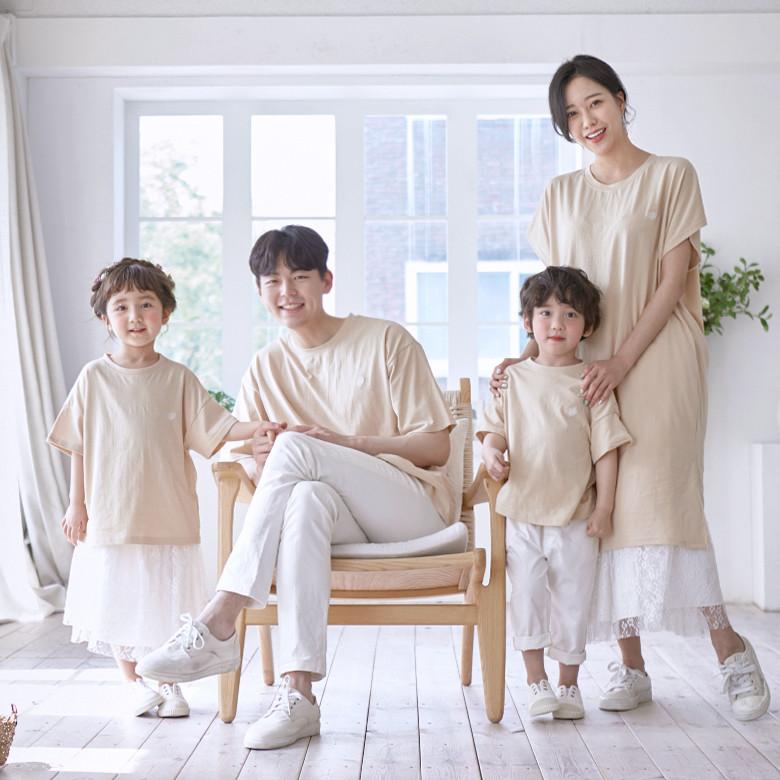 Bagel short T-shirts family 21B03/ family look, family photo costume