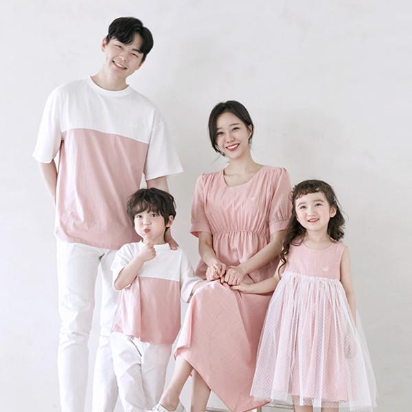 Elisha short T-shirts family 21B11/ family look, family photo costume