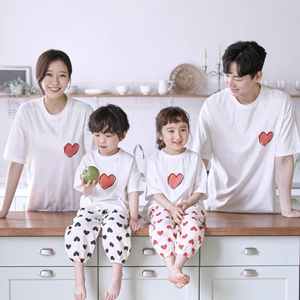My Heart short T-shirts family 21B09/ family look, family photo costume