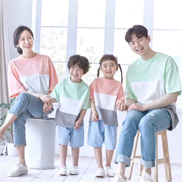 Sweet and sour short T-shirts family 21B10/ family look, family photo costume