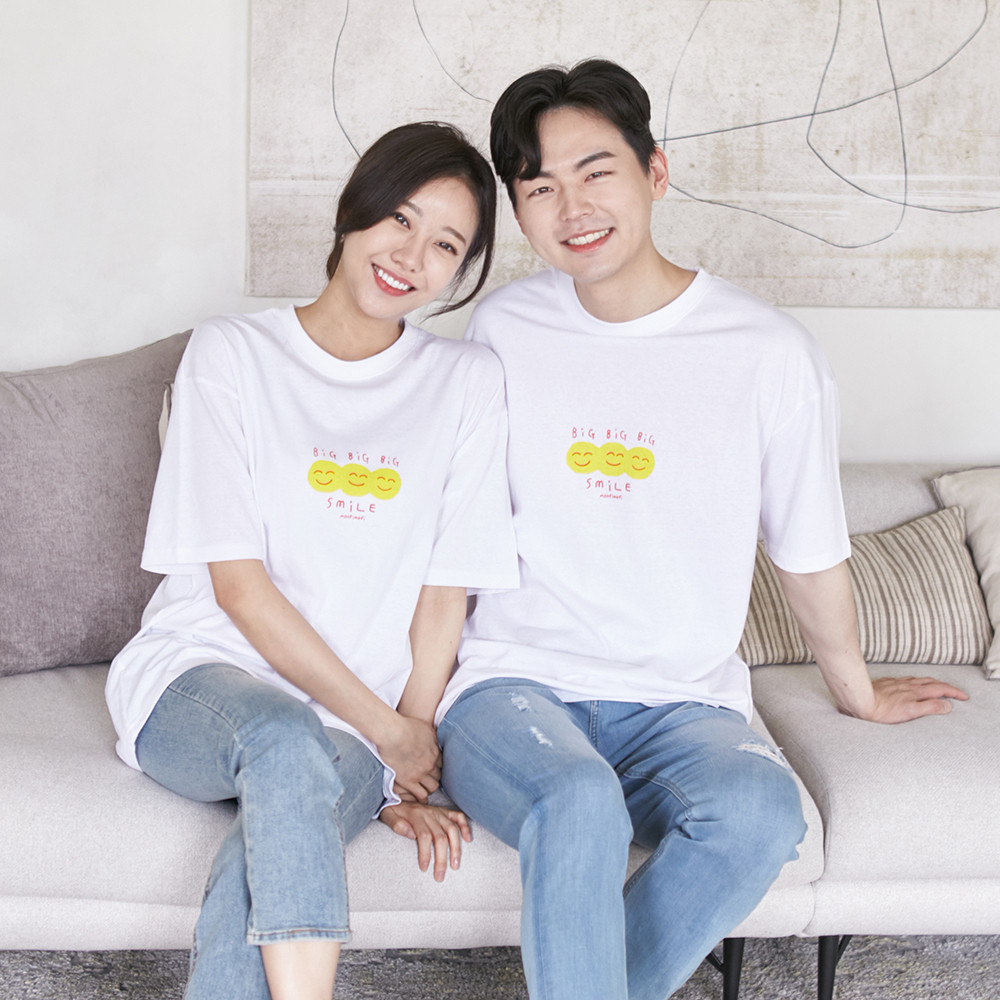 Smile short T-shirts Unisex 21B07A/Family Look, Family Photo Costume