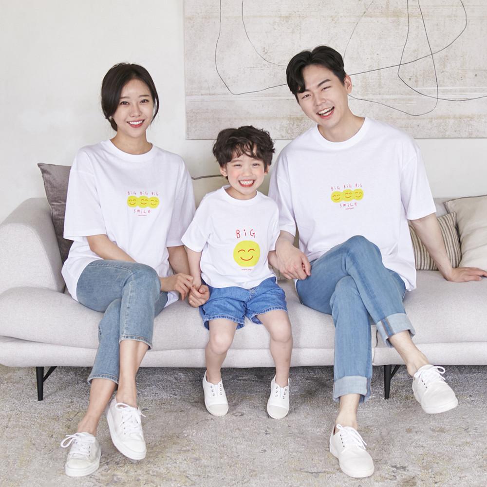 Smile short T-shirts family 21B07/family look, family photo costume