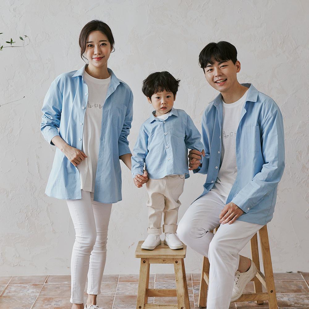 Holiday Blue shirt family 21C03S/family look, family photo costume